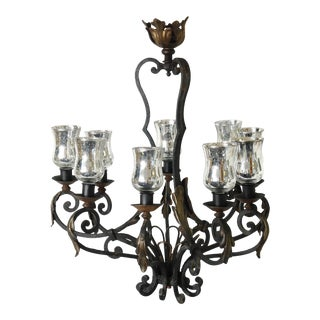 Antique French Iron Tabletop Chandelier