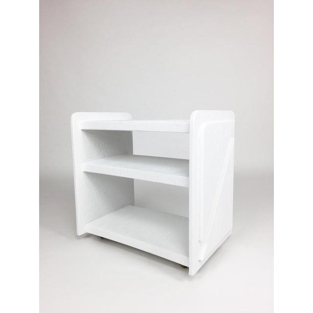 White White Post-Modern Bar Cart For Sale - Image 8 of 8