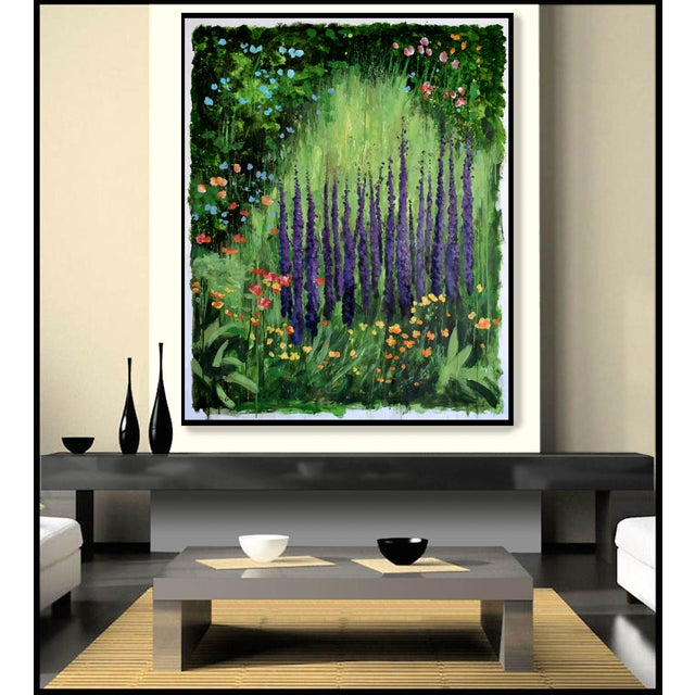 """""""Carla's Garden"""" Acrylic Painting For Sale - Image 4 of 4"""