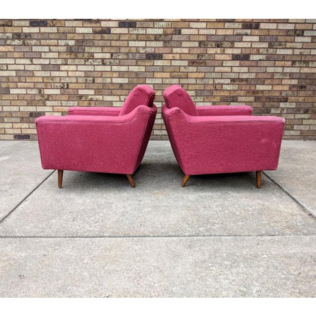 1960s 1960s Mid Century Modern Lawrence Peabody Style Lounge Chairs - a Pair For Sale - Image 5 of 10