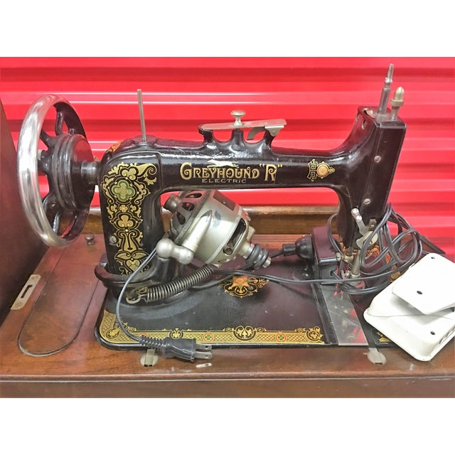 Cottage Greyhound Electric Portable Sewing Machine For Sale - Image 3 of 10