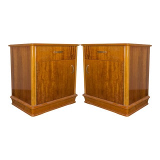 French Mid Century Nightstands - a Pair For Sale