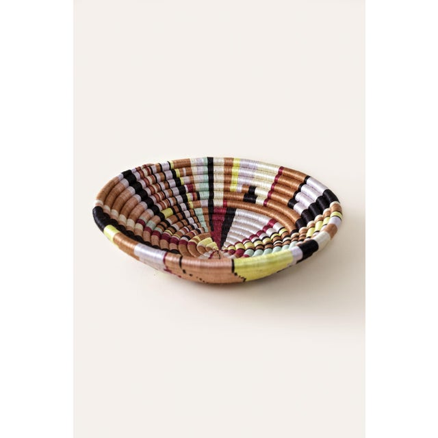 Contemporary Indego Africa Handwoven Geo Brights Plateau Basket For Sale - Image 3 of 5
