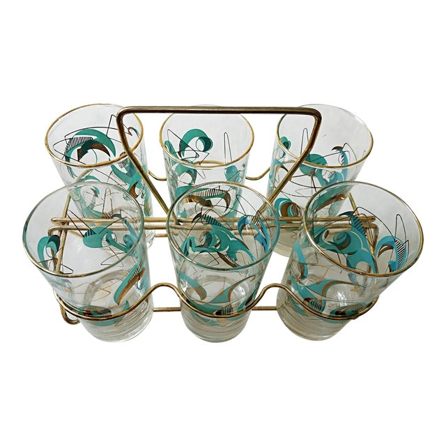 Mid Century Atomic Glasses - Set of 6 - Image 1 of 9