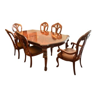 Bernhardt Stunning Grand Savannah Dining Table and 6 Chairs, Reduced,final