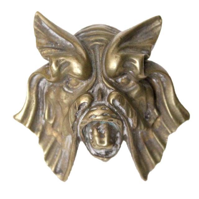 Brass Sea Monster Door Knob For Sale - Image 4 of 4