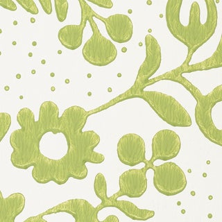 Schumacher Millicent Wallpaper in Leaf Preview