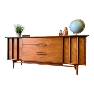 Sculpted Mid Century Modern Dresser / Credenza by Kent Coffey For Sale