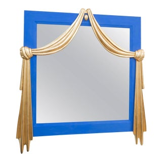 Gilt Dorothy Draper Style Mirror For Sale