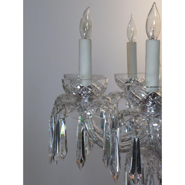 Mid-Century Modern Large Waterford Chandelier For Sale - Image 3 of 10