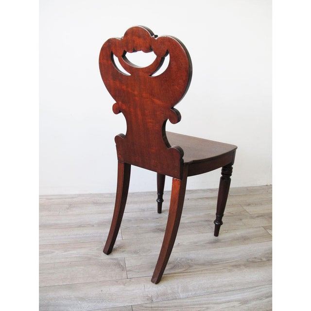 English Regency Mahogany Hall Chair For Sale - Image 4 of 6