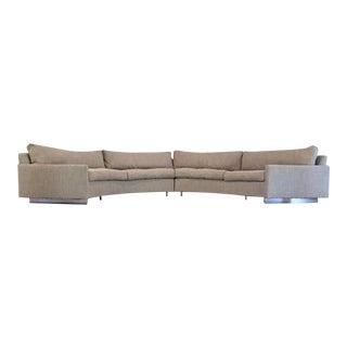 Mid Century Modern Milo Baughman for Thayer Coggin Circular Sectional Sofa - a Pair For Sale