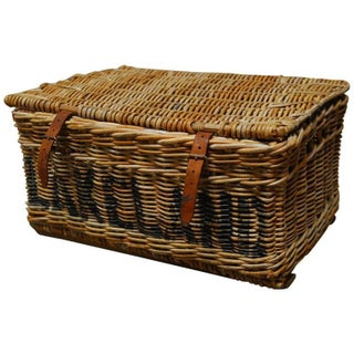 English Military Wicker Basket