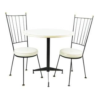Mid-Century Antarenni Cigarette Table Bistro Set Paul McCobb Style