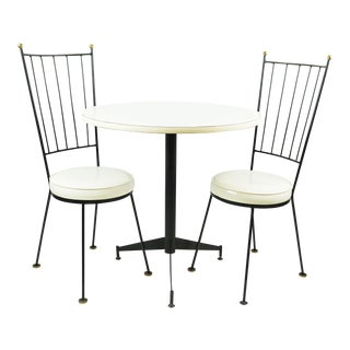 Mid-Century Wrought Iron Bistro Set - Set of 3