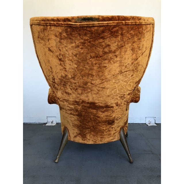 1970s Vintage Ben Seibel Wingback Lounge Chair For Sale In Kansas City - Image 6 of 9