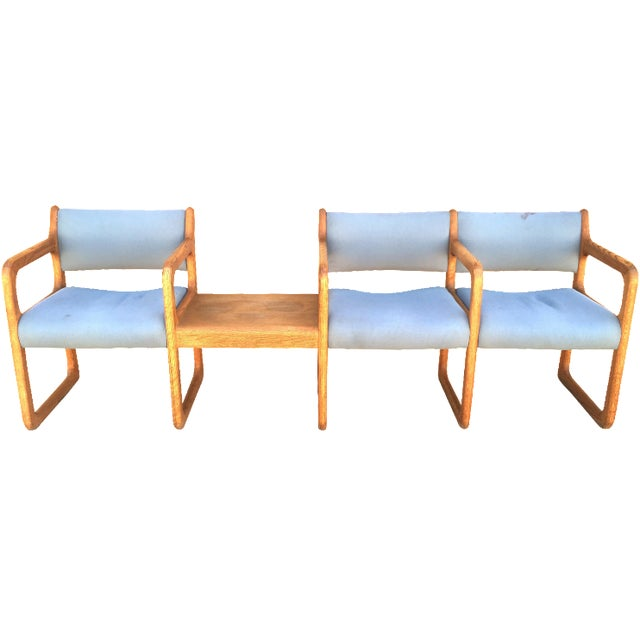Danish Modern Wooden Reception Banquette - Image 1 of 8