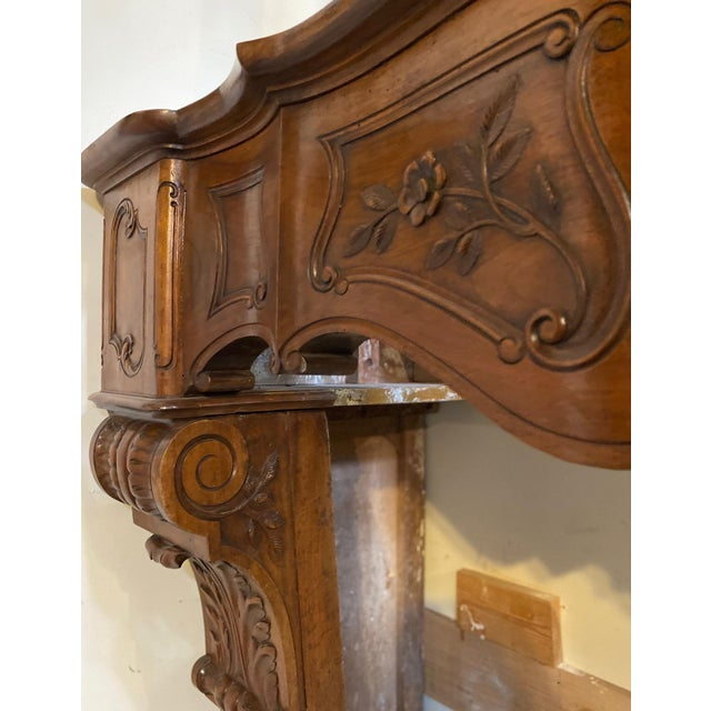 Antique Wood Mantel For Sale - Image 4 of 7