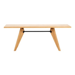 Jean Prouvé Table Solvay in Natural Oak for Vitra For Sale