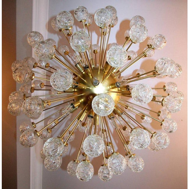 1980s Rose Murano Glass Sputnik Chandelier For Sale - Image 5 of 9