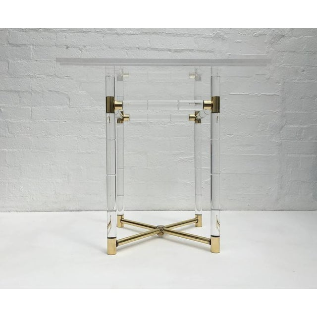 Polished Brass and Faux Bamboo Center Table by Charles Hollis Jones - Image 8 of 10