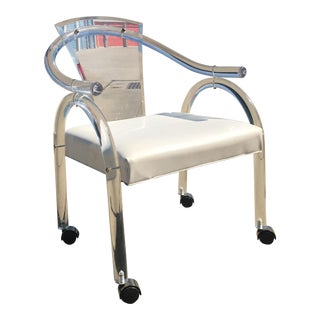 Charles Hollis Jones Lucite Rolling Chair