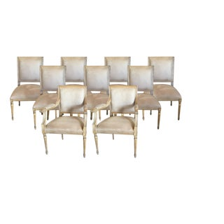 Kreiss Carved Dining Chairs- Set of 9 For Sale