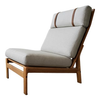 Mid Century Danish Oak Lounge Chair by Komfort Design For Sale