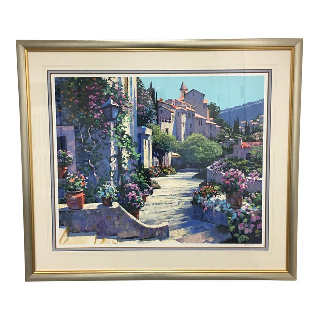 "Howard Behrens ""Old World Charm"" Framed Serigraph For Sale"