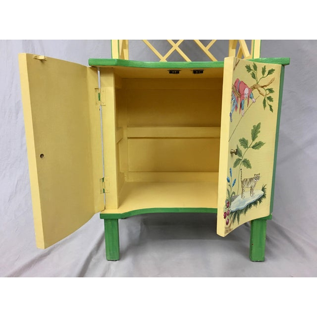 Wood Chinese Style Painted Shelf For Sale - Image 7 of 11