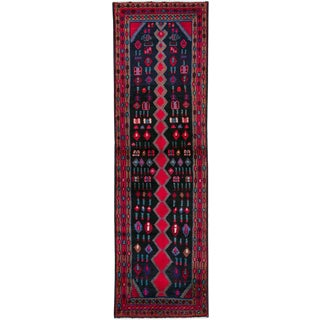 "Vintage Persian Hamadan Rug – Size: 1' 11"" X 6' 5"" For Sale"