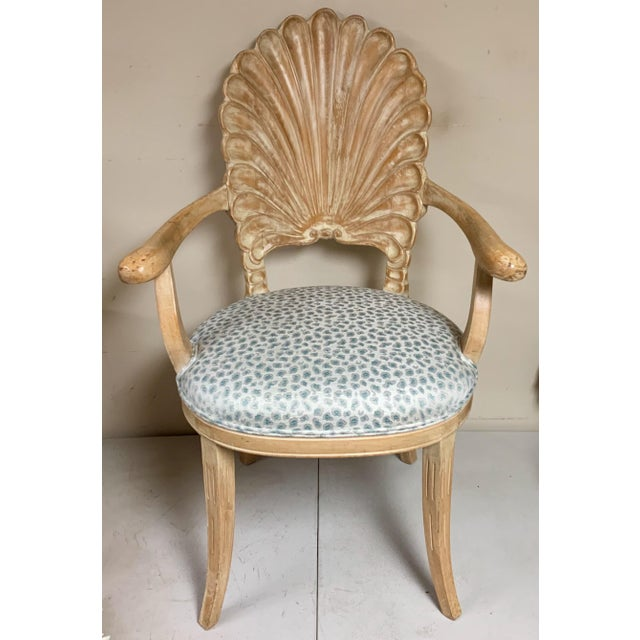 Pair of Shell Backed Chairs in Leopard Upholstery For Sale In Atlanta - Image 6 of 12