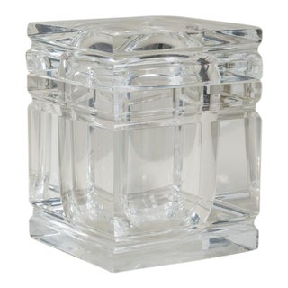 Lucite Ice Bucket With Incised Detail, 1970s For Sale