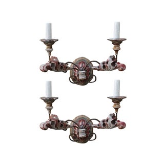 Italian Painted Sconces - A Pair