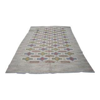 Judith Johansson Swedish Rolakan Kilim Carpet- 6′10″ × 9′11″ For Sale