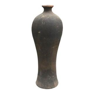 Tall Decorative Terracotta Vessel For Sale