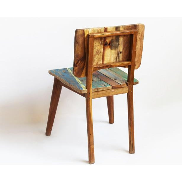 Reclaimed Boat Wood Chair - Image 3 of 4