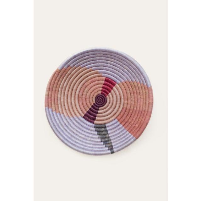 Indego Africa Handwoven Heather Shape Plateau Basket For Sale - Image 4 of 4