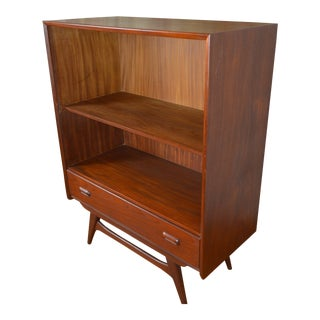 Danish Mid Century Modern Teak Bookcase For Sale