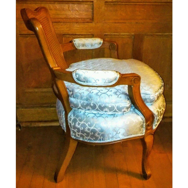 Vintage French Provincial Caned Back Chair - Image 4 of 5