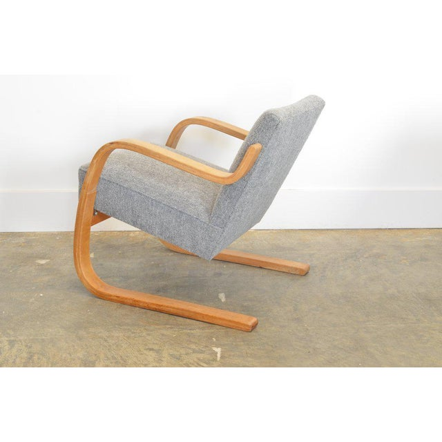 Alvar Aalto 34/402 Model Cantilever Chair in Pierre Frey For Sale In Phoenix - Image 6 of 7