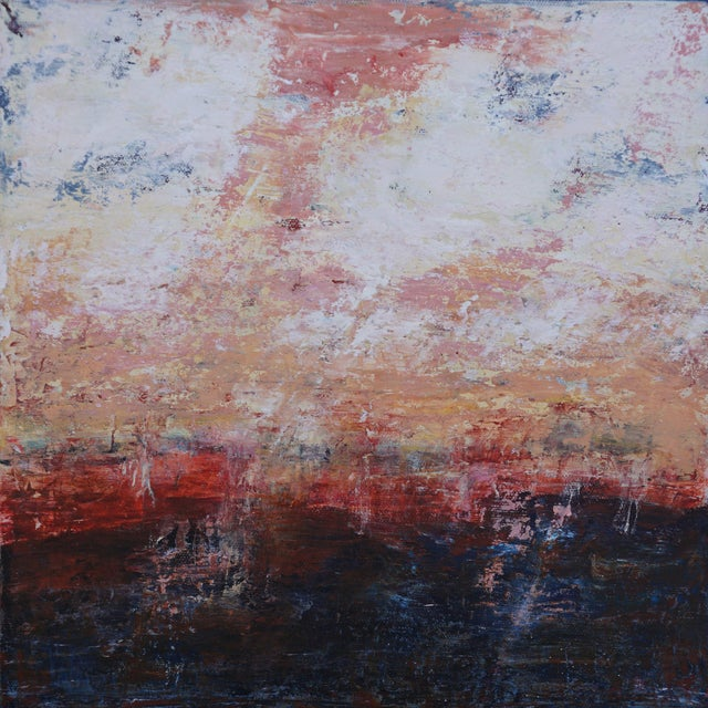 """Original """"Alone Together"""" Abstract Painting by Laurie MacMillan For Sale"""