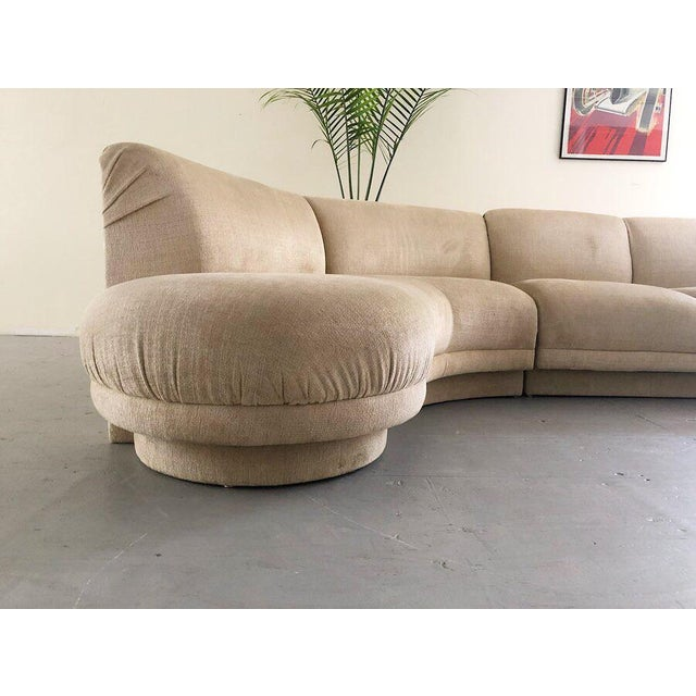 """Serpentine """"Cloud"""" Sofa Designed By Vladimir Kagan For Weiman This gorgeous sofa features a biometric shape and curved..."""