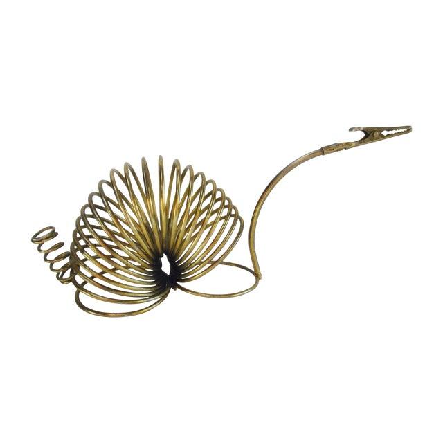 Brass Snail Slinky Memo Holder Paper Clip - Image 1 of 6