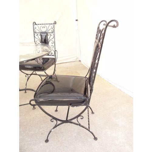 Vintage Regency Iron Patio Dining Set For Sale In Philadelphia - Image 6 of 13