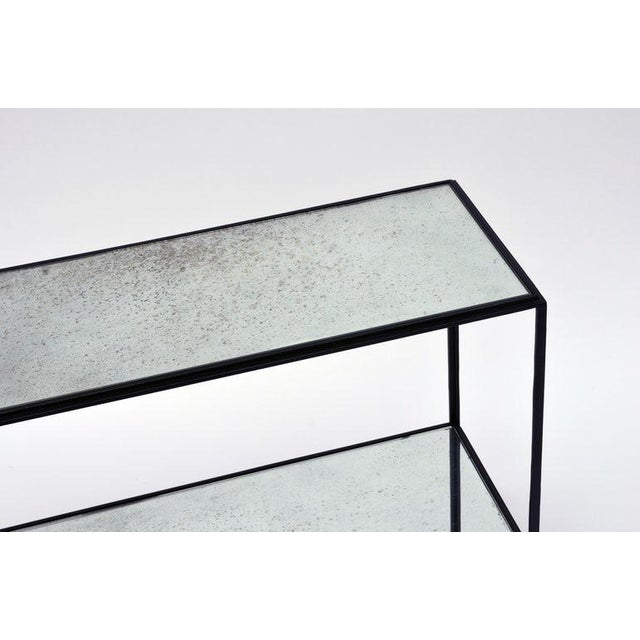 Modern The 'Rectiligne' Narrow Mirrored End Table For Sale - Image 3 of 8