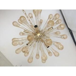 Murano Glass Gold and Transparent Sputnik Chandelier Preview