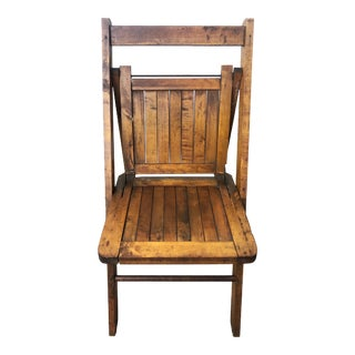 Vintage Wooden Folding Chair For Sale