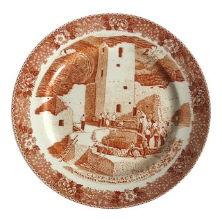 """Cliff Palace"" Vintage Mesa Verde Souvenir Plate For Sale"