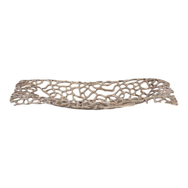 Kenneth Ludwig Bronze Aluminum Branch Tray For Sale